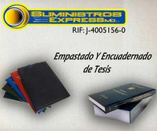 Empastado Y Encuadernado De Tesis Con Cd Y Libros Urgentes.