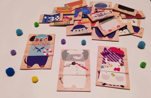 Imagen 1 de 6 de Juegos Didácticos De Madera, Artesanales.  Personalizados