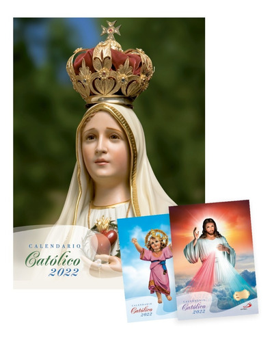 Imagen 1 de 7 de Calendario Católico De Pared 2022 - Por 4 Unidades