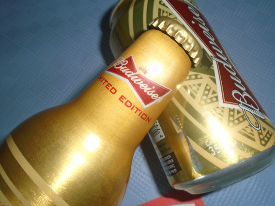 Botella Aluminio Budweiser Us * Lata + Posa Unicos // Belgr