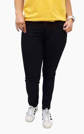 Pantalón Jean Levis 712 Slim Dama Mujer Negro