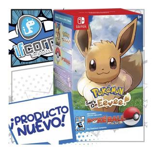 Pokemon Lets Go Eevee Pokeball Plus Bundle Nintendo Switch