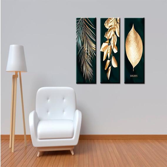 Quadro Decorativo 3 Peças Golden