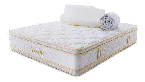 Imagen 1 de 5 de Colchón Titan Gold Doble Maxi Pillow 1.60x1.90 + Lenceria