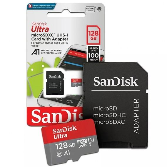 Cartão De Memória Micro Sd 128gb Ultra Sandisk