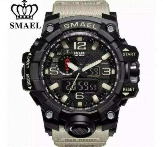 Relógio Masculino Smael 1545 Militar Schock Digital Original