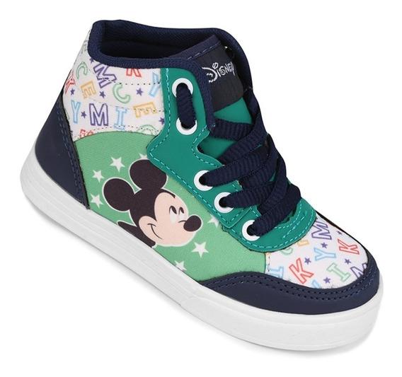 Tênis Cano Alto Disney Mickey