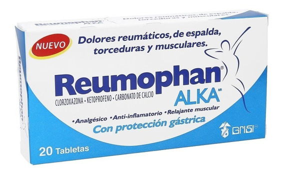 Relajante Muscular Reumophan Alka 20 Tabletas Grisi