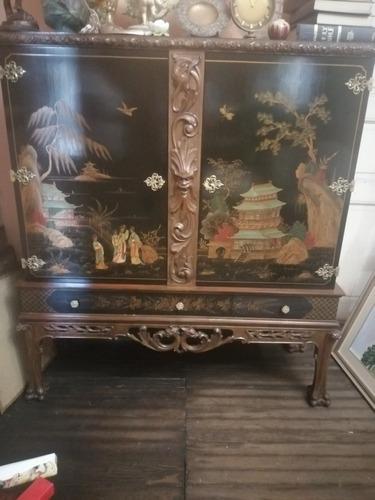 Imagen 1 de 6 de Antiguo Mueble Oriental, Tallado Hermoso, Único