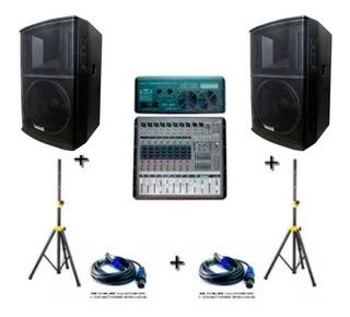 Sistema Audio Sonido Consola Amplificada Lexsen
