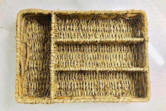 Cubiertero Seagrass Organizador Cajon Cubiertos Quincho