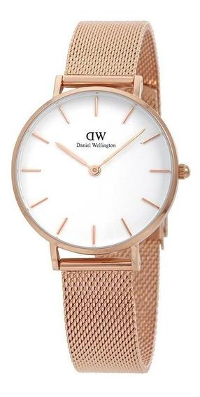 Reloj Daniel Wellington Petite Melrose Dorado Blanco 32mm