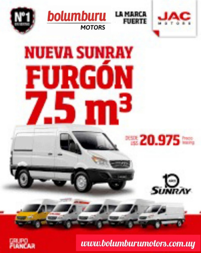 Jac Sunray Furgon 7.5 M3  Entrega Inmediata