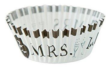 Fox Run 7188 Mr Y Mrs Wedding Bake Cups Standard 50 Copas