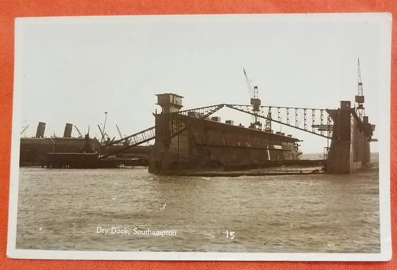 Antigua Postal Barco Dock Southampton