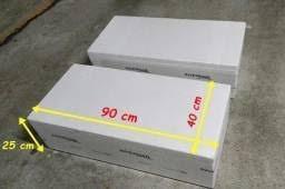 Caixa De Isopor Térmica Retangular Grande 90x40x25 Com Tampa