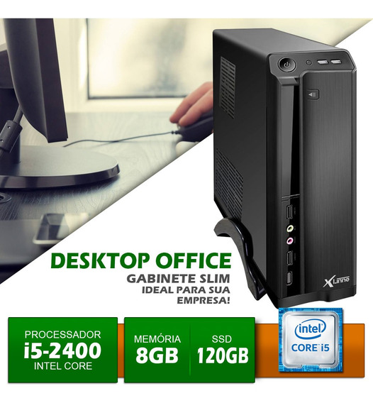 Desktop 1155 I5 2400 Ddr3 8gb Hd Ssd 120gb Office X-linne