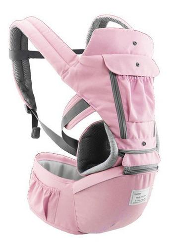 Bolsa Canguru Ergonômico Bebê Rosa Mamãe 12 Posições 3 Em 1