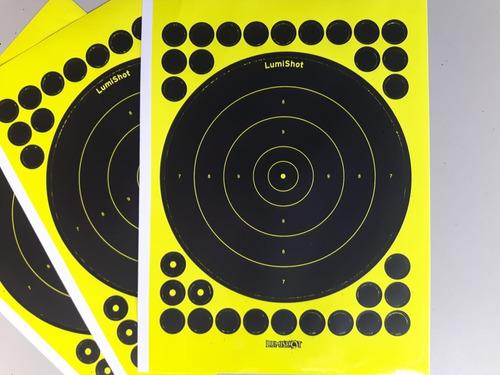 Alvo Reativo Fluorecentes 200mm - Kit 10 Folhas (10 Alvos)