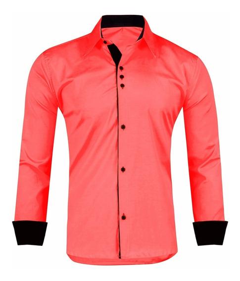 Kit 2 Camisas Camisete Blusa Manga Longa Slim Fit Masculina