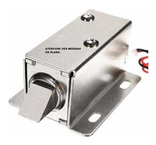 Cerradura Electrica Mini 12vcc Induccion Solenoide Pl820