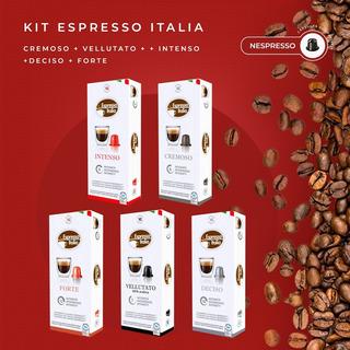 Kit 200 Capsulas Compativeis Nespresso/ Cafe Espresso Italia