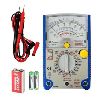 Multimetro Analogico Minipa Et-3021c Hfe Beep Bateria
