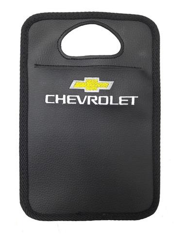 Imagem 1 de 2 de Lixeira Automotiva Chevrolet Bordado