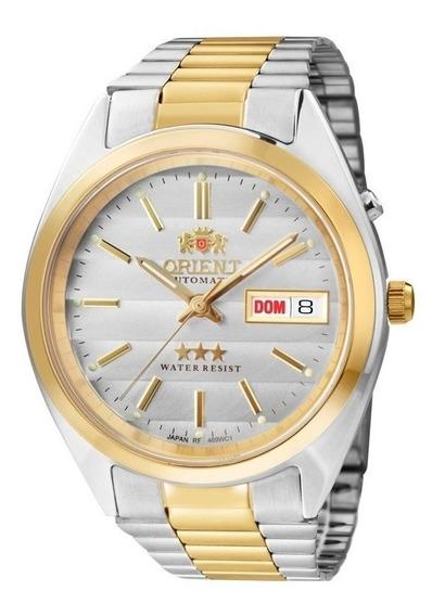 Relogio Orient Automatico Masculino Prata Dourado 469wc1 B1k
