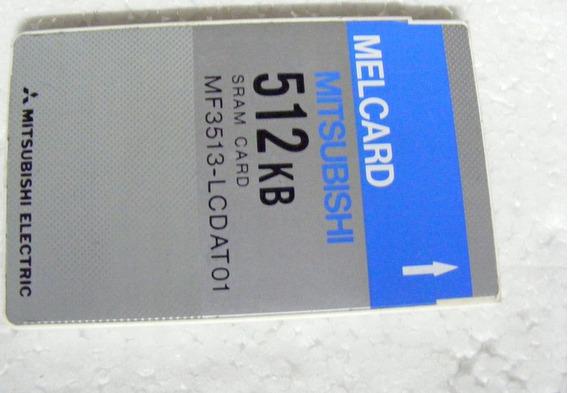 Mitsubishi Sram Card 512 Kb Melcard Mf3513-lcdat01 Sramcard