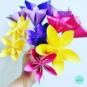 Souvenirs / Centros De Mesas Flores Origami X 10 Unidades