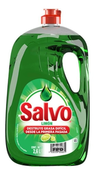 Envio Gratis! Lavatrastes Liquido Salvo Limon 2.6 Litros