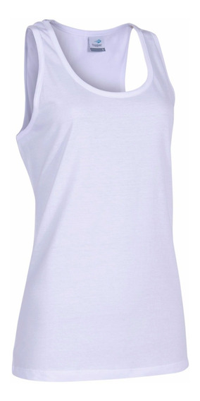 Musculosa Topper Tank Top Básico Mujer Blanca