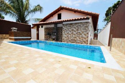 Casa Nova Com 4 Dorm. Piscina E Churrasqueira Próxima À Praia - V167