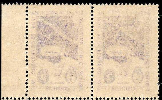 Argentina 1947. Par Del 5c Correo Antártico, Retintado