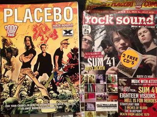 Comic De La Banda Placebo Rocksound +2 Cds De Colección