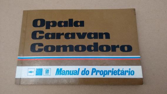 Manual Proprietário Original Em Branco Opala E Caravan 75/79