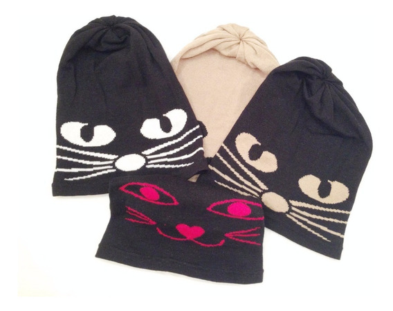 Gorros Beanie Moustache And Cat Miscellaneous By Caff