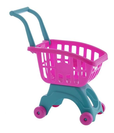Carrinho De Compras Infantil Brinquedo Menina E Menino