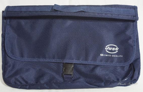 Portafolios Azul Vinilico Porta Notebook Sin Divisiones