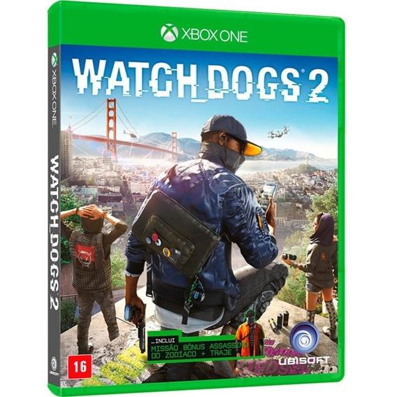 Watch Dogs 2 Xbox One Mídia Física Original Lacrado Dublado