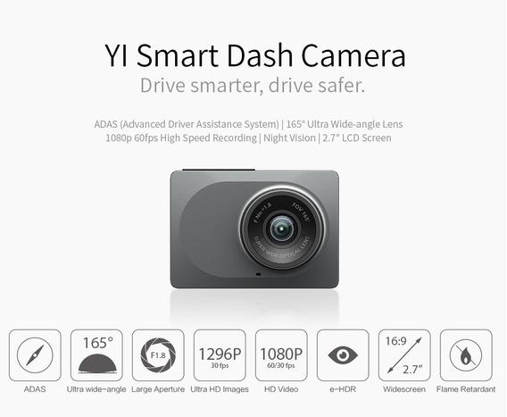 Xiaomi Dash Camera P/ Carro 1080p + Cartão 64gb Classe 10