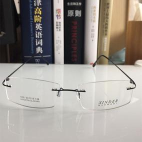 bd91e72af Armação Preta Feita De Titanium Óculos Grau Sem Aro !