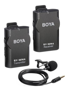 Micrófono con accesorios Boya BY-WM4 condensador omnidireccional negro