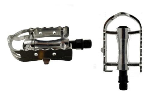 Imagen 1 de 3 de Pedales Bicicleta Aluminio Vintage Ruta New Evolution Ne-906