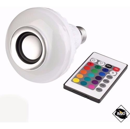 Lampada Led 12w Caixa Som Bluetooth 2 Em 1 Mp3 Music Bulb 2