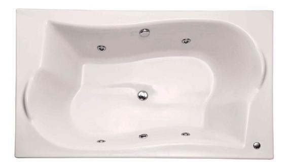 Banheira Retangular Sem Aquecedor 4 Jatos 180x110cm Branca