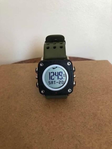 Relógio Nike Drill Wc0070 Verde Militar