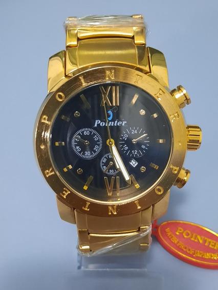 Relógio Pointer D066 Dourado 12x Sem Juros