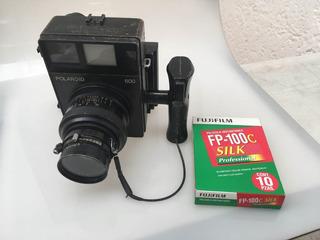 Polaroid 600 Con Mamiya Sekor 127mm F/4.7 Lente Fijo Fp100